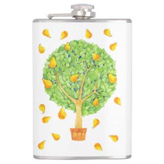 Pear Tree Pears Vinyl Wrapped Flask, 8 oz. Flasks