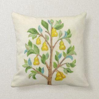 Pear Tree throw pillow Throw Cushion