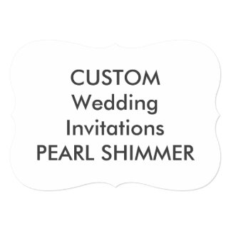 "PEARL 110lb 7"" x 5"" Bracket Wedding Invitations"
