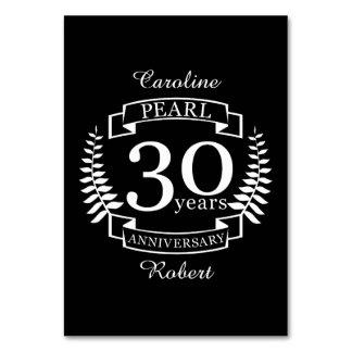 Pearl 30th wedding anniversary 30 years card