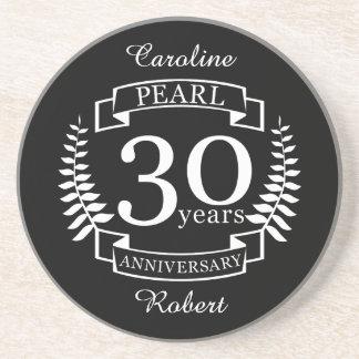 Pearl 30th wedding anniversary 30 years coaster