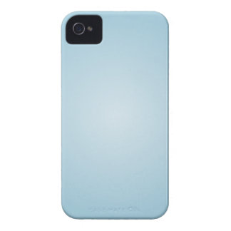 Pearl Blue Solid Color with Glow iPhone 4 Case