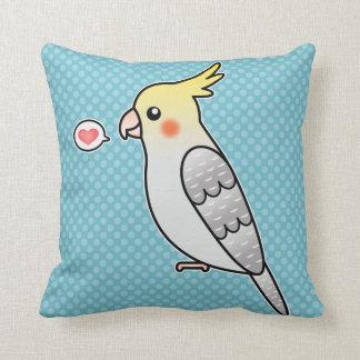 Pearl Cartoon Cockatiel Parrot Bird Love Cushion