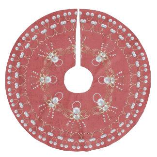 Pearl Christmas Angel of Joy Red Circle Custom Brushed Polyester Tree Skirt