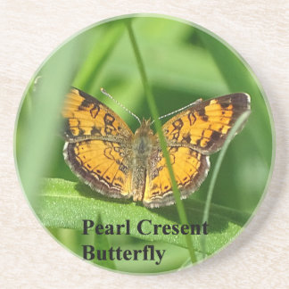 Pearl Crescent Butterfly Coaster