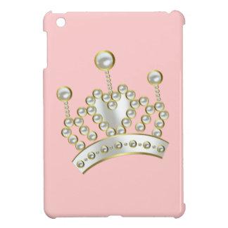 Pearl Encrusted Princess Crown iPad Mini Covers