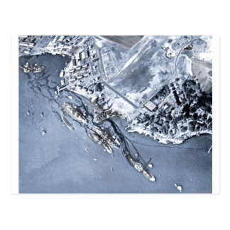 Pearl Harbor Aftermath Postcard