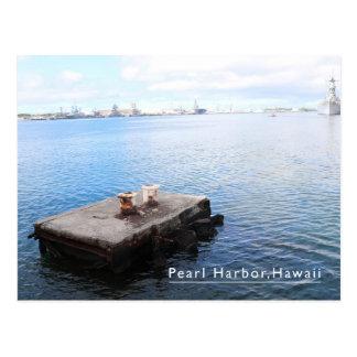 Pearl Harbor hawaii blue postcard
