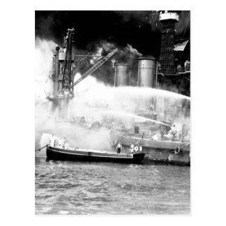 Pearl Harbor, taken by surprise_War image Postcard