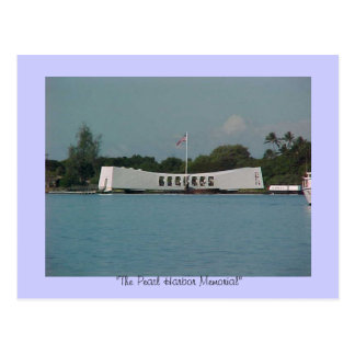 """""""PEARL HARBOUR"""" MEMORIAL, """"The Pearl Harbor Mem... Postcard"""