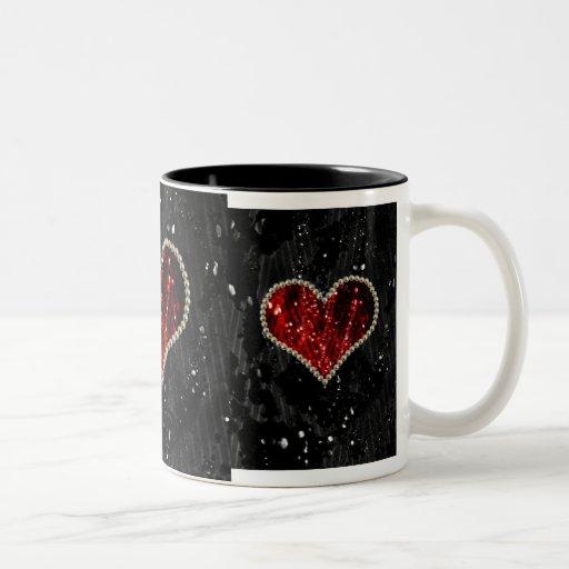 Pearl Heart Mugs