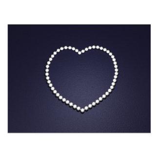 pearl heart postcard