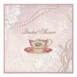 pearl lace bridal Tea Party Invitation