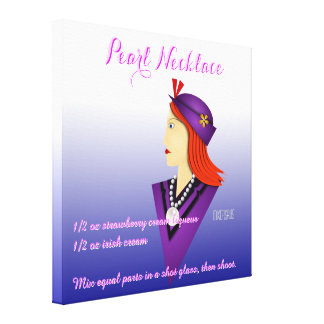 Pearl Necklace Drink Recipe Canvas Prints