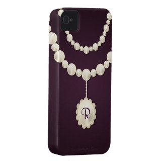 Pearl Necklace iPhone 4 Case-Mate Barely There