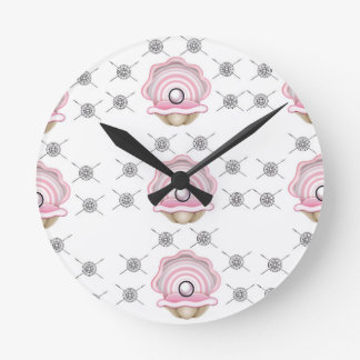 pearl perfect art round clock