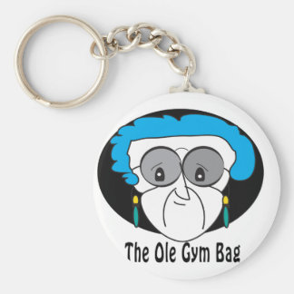 Pearl, the Ole Gym Bag Basic Round Button Key Ring