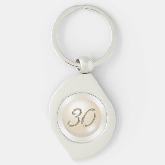 Pearl theme 30th Birthday Gift,  Anniversary Gifts Key Ring