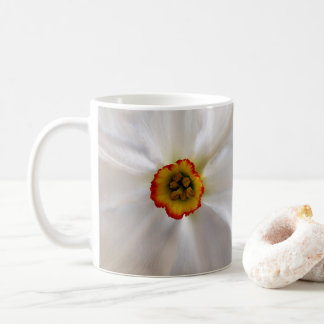pearl white narcissus coffee mug