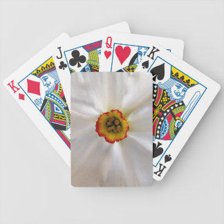 pearl white narcissus poker deck