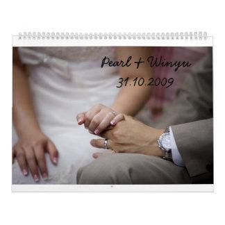 Pearl & Winyu's Calendar