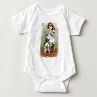 Pearline Girl With Dog Tee Shirts