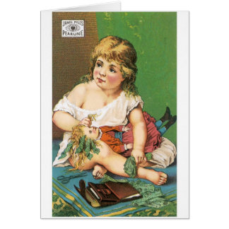 Pearline Girl with Doll Card