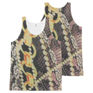 """""""Pearls and Chains"""" All over print All-Over Print Tank Top"""
