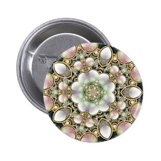 Pearls and Gold Kaleidoscope Pins