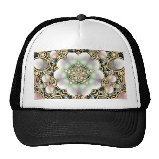 Pearls and Gold Kaleidoscope Trucker Hats