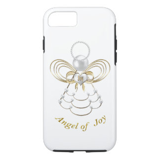 Pearls and Gold - Metallic Christmas Angel of Joy iPhone 8/7 Case