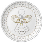 Pearls and Gold - Metallic Christmas Angel of Joy Plate