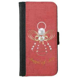 Pearls and Gold - Metallic Christmas Angel of Joy iPhone 6 Wallet Case