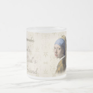 Pearls are a girls best friend frosted glass mug