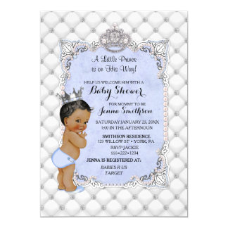Pearls Diamonds Ethnic Little Prince Baby Boy Card