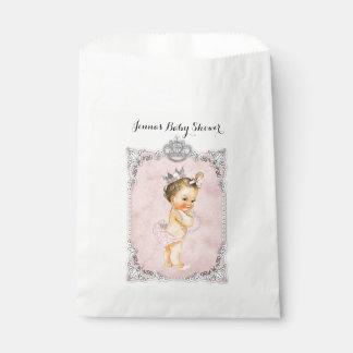 Pearls Diamonds Princess Baby Girl Blush Pink Favour Bag