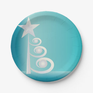 Pearls for Christmas Paper Plate