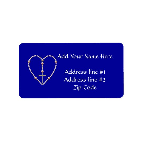 """""""Pearls"""" heart shaped Rosary Label"""