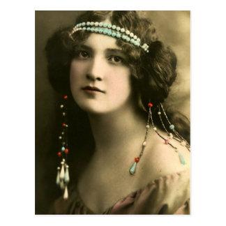 Pearls in Her Hair Postcard