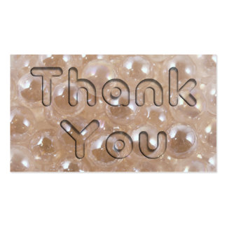 Pearls Thank You Business Card