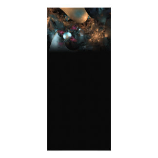 Pearly Abstract Digital Art Fractal Rack Card Template