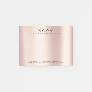 Pearly Blush Name Web Telephone Number Pink Post-it Notes