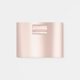 Pearly Blush Pink Rose Gold Powder Metallic Post-it Notes