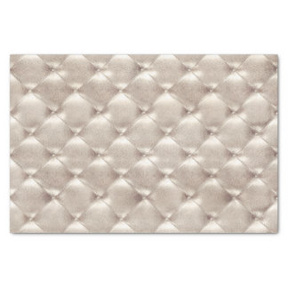Pearly Ivory Titanium VIP Metallic Tufted Leather Tissue Paper