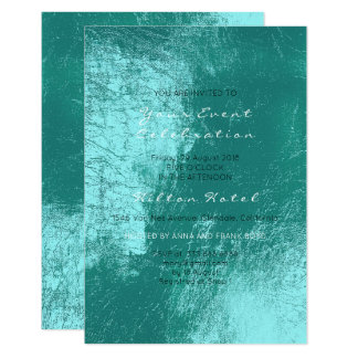 Pearly Metallic Mediterranean Tiffany Aqua Glass Card