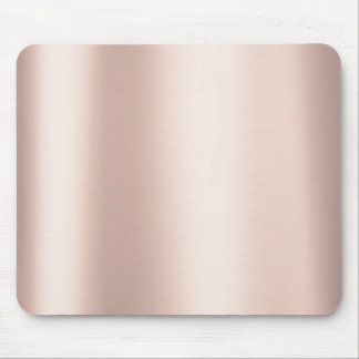 Pearly Pink Rose Ballet Blush Gold Metallic Mouse Pad