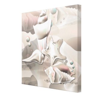 Pearly Sea Shells Wrapped Canvas Print