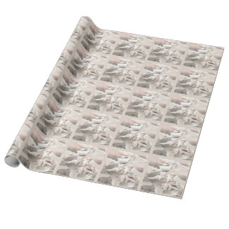 Pearly Seashells Beach Wrapping Paper