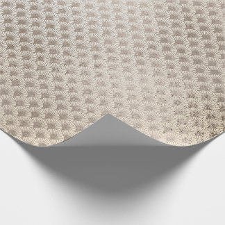Pearly Titanium Ivory Seashells Art Deco Glass Wrapping Paper