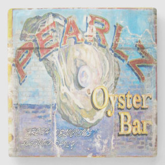 Pearlz Oyster Bar Charleston, SC. Marble Coaster
